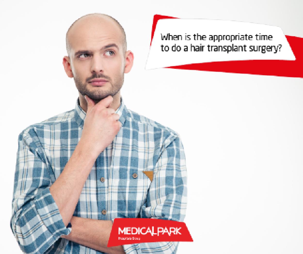 Когда следует делать операцию по пересадке волос?